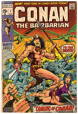 Conan the Barbarian #1, Roy Thomas, Barry Smith (Windsor-Smith),1970, Marvel