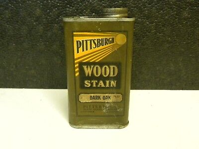 Vintage PPG Pittsburgh Plate and Glass Company Dark Oak Wood Stain Can 1/16 Gal