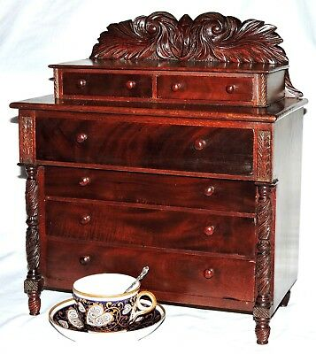 "CHEST, apprentice, miniature, jewelry chest, Sing Sing, NY, 1843, Federal, 16""t"