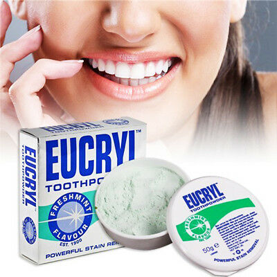 EUCRYL Fresh Mint Flavour Powerful Teeth Whitening Stain Removal Tooth Powder