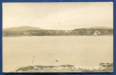South West Harbor Maine me view from Manset real photo postcard RPPC