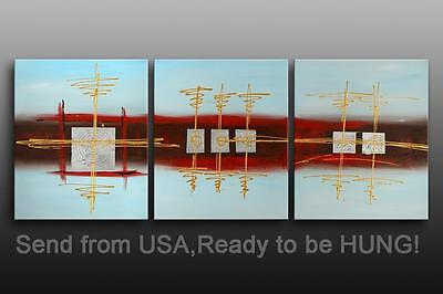 Art deco Framed Oil Painting Canvas Modern Abstract Art Deco Ready For Hung