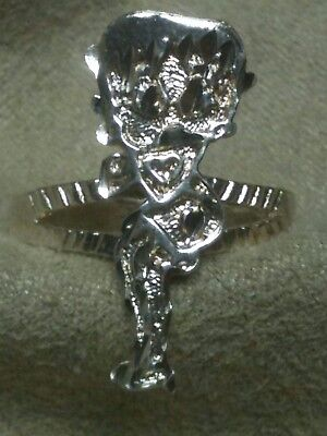 Betty Boop Cartoon Character~Solid Sterling Ring Size 6 {Reduced 40%}  (A-29)