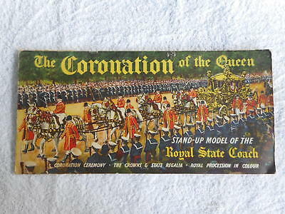 Coronation Of The Queen Elizabeth 11 Stand Up Pop Up Book Childs Sunday Markets
