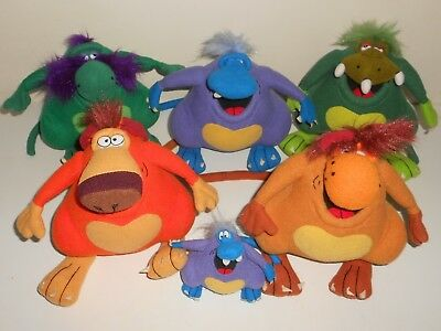 1990s Mixed lot of 5x YOWIE Soft Plush Toys
