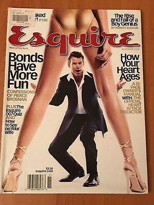 Esquire Magazine Nov. 2002 Pierce Brosnan James Bond 007 Collectors!