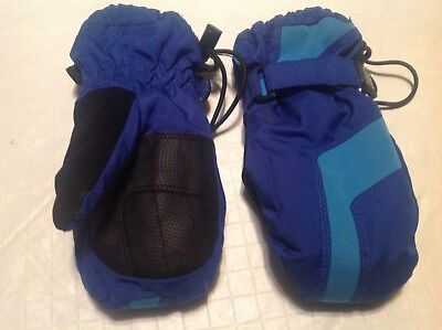 REI Mittens Size 2T Blue and Green Adjustable