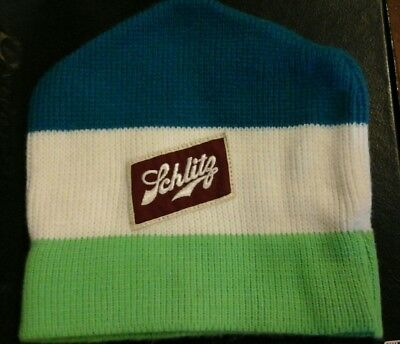 retro schlitz beer stocking hat