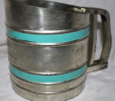 Vintage Foley Sift-Chine Triple Screen with Turquoise Bands
