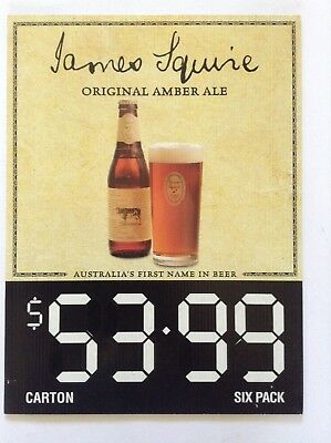James Squire Amber Ale Beer Sign Pub Man Cave Collectable Home Brew