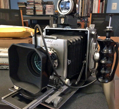 Linhof Technika III type 5 4x5 camera w/ 2 roll film backs and extras EXC