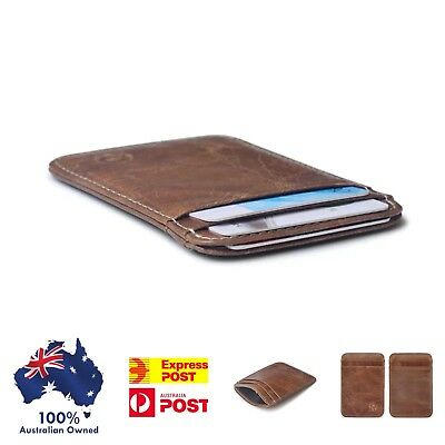 Small Wallet Slim Credit / Opal Card Holder Unisex Gift Ships From Australia