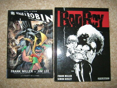 All Star Batman and Robin. Bad Boy graphic novels by Frank Miller HC New