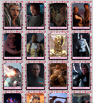 Topps Star Wars Card Trader  Valentine's Day Series 5 2018 Base Variant 17 Cards