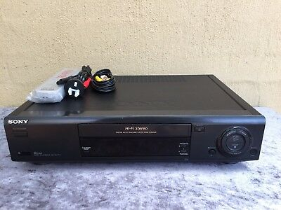 Serviced Sony SLV-X827 Stereo Video Recorder Player + New REMOTE VHS Player VCR