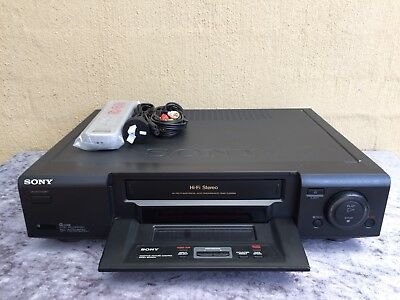 Serviced Sony SLV-X835 Stereo Video Recorder Player + New REMOTE VHS Player VCR