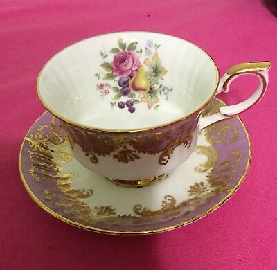 Paragon Fine Bone China Tea Cup & Saucer - To Her Majesty Queen-Made in England