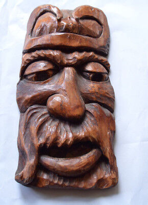 wood carved mask russian south ural art
