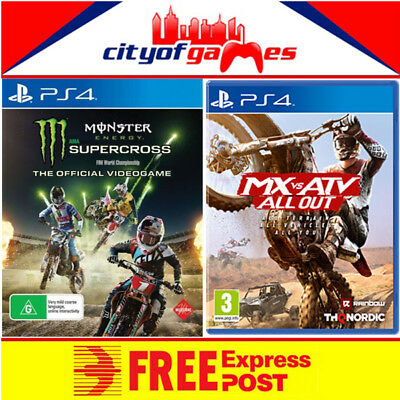 Monster Energy Supercross The Official Videogame & MX VS ATV ALL OUT PS4 Bundle