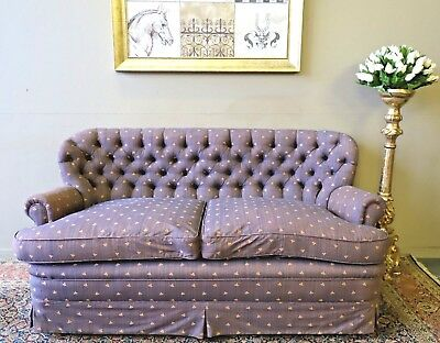 Designer Chesterfield Ladies Sofa Lounge Couch Suite Feather Filled Cushions