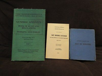 Railway Books, Vintage (3), Safe Working Catechism / Rules Reg's.