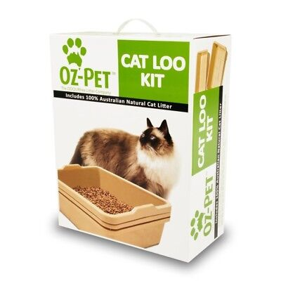 Oz-Pet Cat Loo Kit Kitty Litter tray  -  Beige