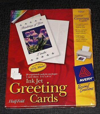 Avery greeting card 3265 2676 picclick avery 3265 half fold greeting cards 55x85 inkjet free shipping m4hsunfo