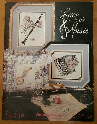 Cross Stitch Pattern Book 'love Is The Music' - Instruments - Look!