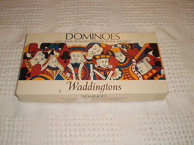 Vintage Collectable Waddingtons Dominoes And Cribbage Board Boxed