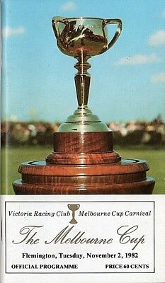 1982 Melbourne Cup Racebook Champion Kingston Town Finished Second - Mint