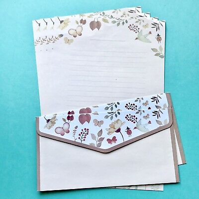 Floral Vintage Style Letter Set/ Writing Note Paper Scrapbook /planner /journal
