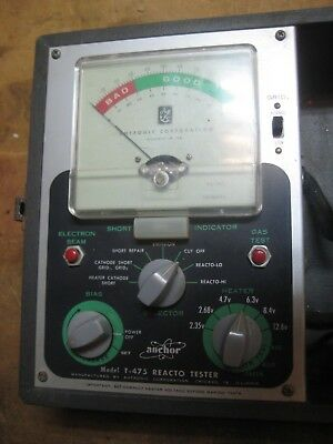 Vintage Anchor Products Reacto-Tester Model T-475 Tube Tester