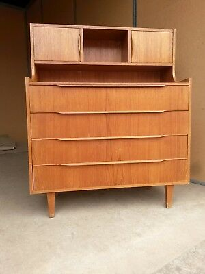 Retro/vintage Teak desk/credenza/chest of drawers/cabinet Danish style