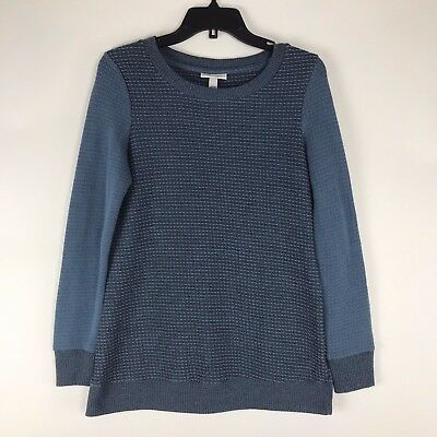Liz Lange Maternity Sweater Extra Small XS Blue Long Sleeve NWOT Casual Career