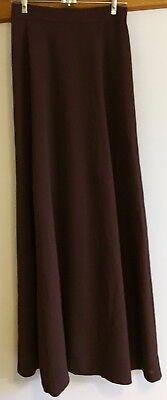 Brown Full length Circle Skirt Miss Jo Melbourne  70's 60's