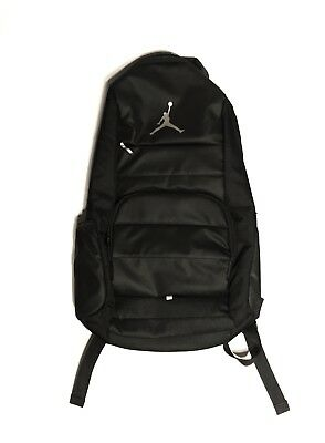 Jordan All World Backpack Black Air Nike Laptop 9a1640 One Size Unisex  silver