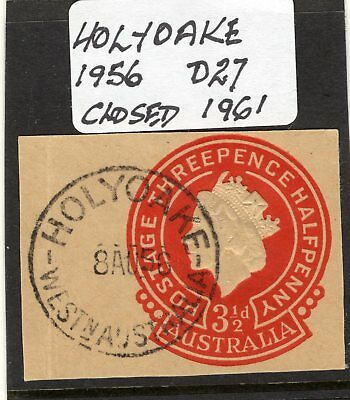 Western Australian Postmarks Holyoak D21 Complete on Cut Out 3½d QE2