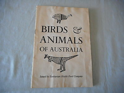 Vintage Sanitarium Children's Card Book BIRDS AND ANIMALS OF AUSTRALIA complete