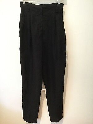 1980's Vintage Claude Montana France pleated linen pants. Sz 8-10. Made Italy.