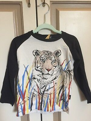 Size 2 Rock Your Baby long sleeve tiger top/tshirt