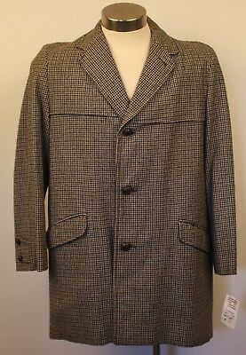 "MEDIUM / LARGE ORIGINAL VINTAGE TWEED 3/4 MENS LONG COAT. "" JACKSON McELWAINE."
