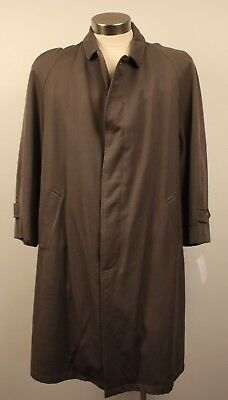 "MEDIUM, ORIGINAL VINTAGE 1970s MENS LONG TRENCH COAT, AS IS. ""SACKVILLE"""