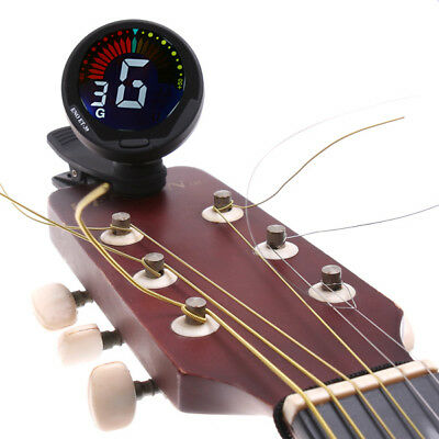 Bass Guitar Tuner 360degree Mini Auto Clip Violin Tuner for Chromatic Ukulele