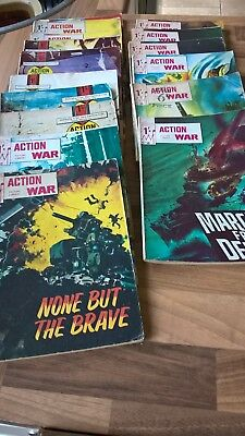 Action War Picture Library Comics. 16 comics in total.