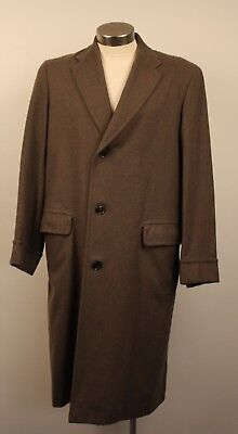 "MEDIUM, ORIGINAL VINTAGE 1970s MENS LONG TRENCH COAT, AS IS. ""PARKCHESTER"""