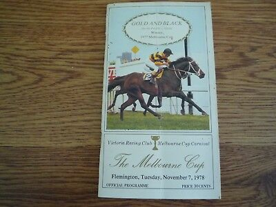 1978 Melbourne Cup Horse Racing Programme / Race Book. Winner Arwon