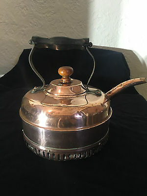 Vintage/Antique solid copper kettle by Linaglow Heat Master – England