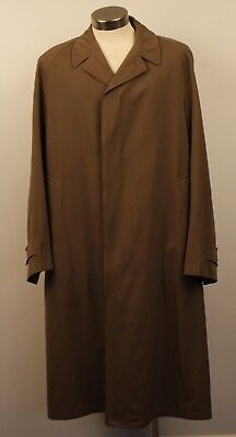 "X LARGE ORIGINAL VINTAGE 1970s MENS LONG TRENCH COAT, AS IS. ""SACKVILLE"""