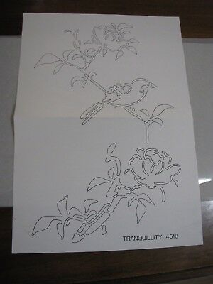 VINTAGE HOBBYTEX  #4518 TRANQUILLITY make your own STENCIL (NEW OLD STOCK)