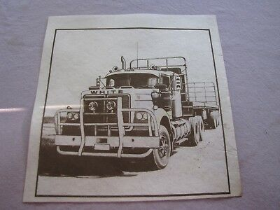 Vintage Hobbytex Pre-Shaded A White Truck Picture Unused